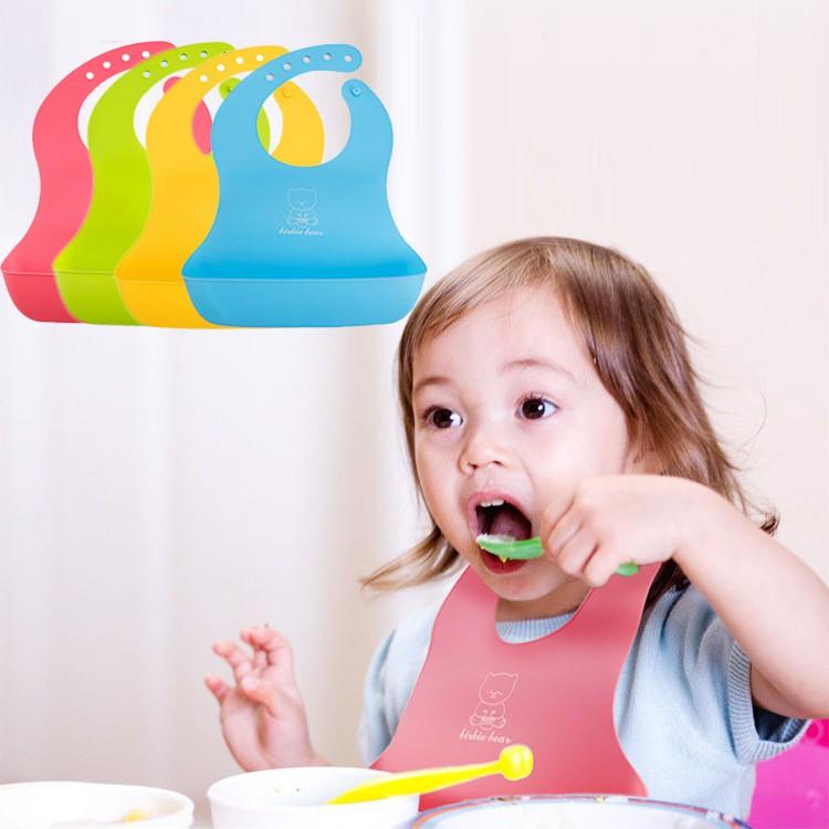 Kid Bib Children Waterproof Imitation Silicone Bib 宝宝围兜围嘴 BB0013