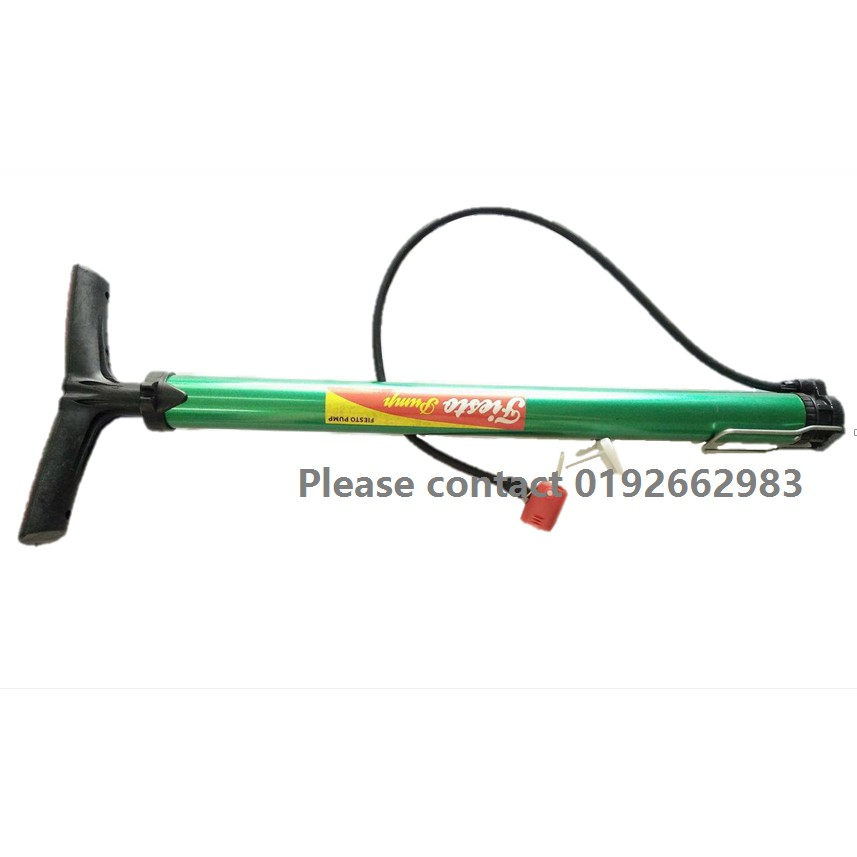 Bicycle Hand Air Pump3 different type of ball needle (Green)