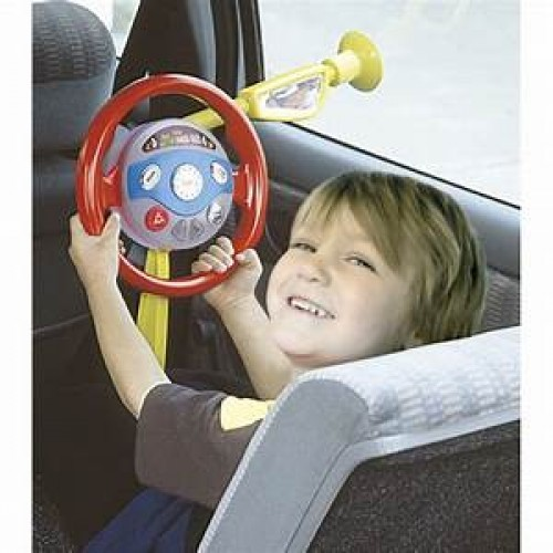 Childrens Backseat Driver Steering Wheel Drive Car Toy Role Play