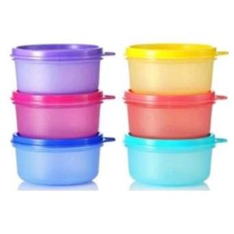 Tupperware Small Round Container Random Calour (3pcs) 200ml