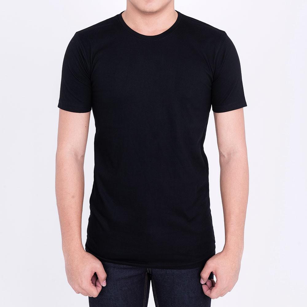 เสื้อยืดสีดำ ผ้าcotto