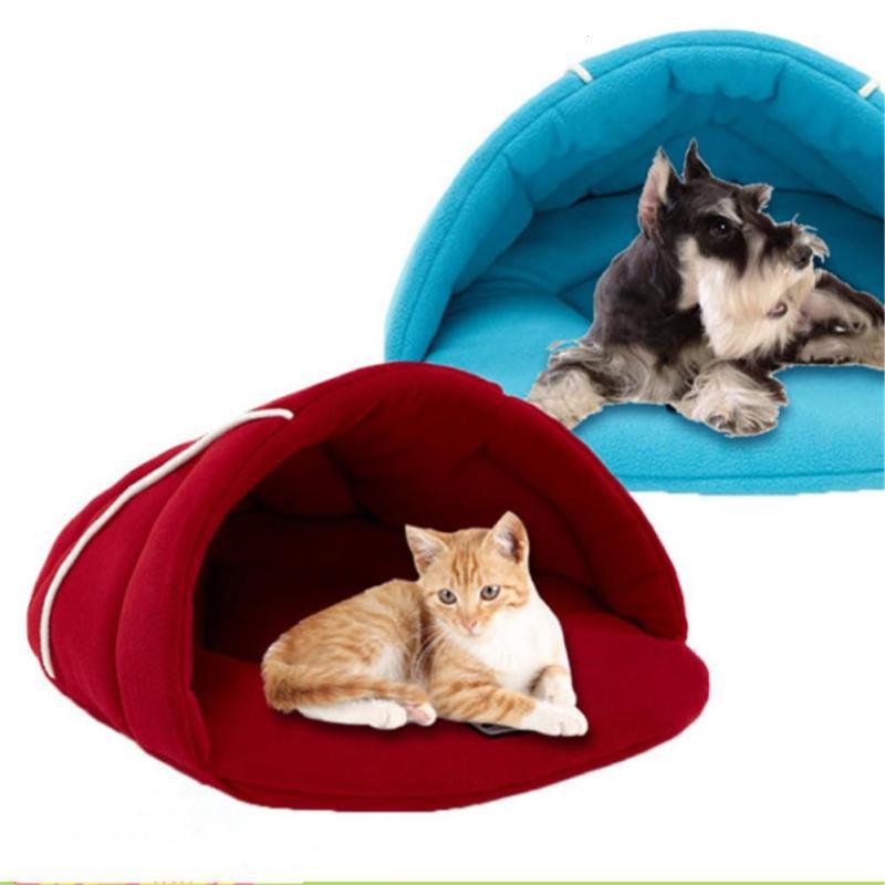 House Cushion Nest Cozy Mat Kitten Sleeping Bed Lgloo Soft Cat Cave Pet