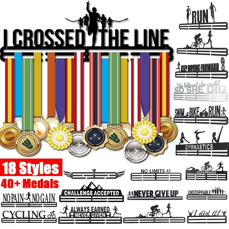 Metal Steel Medal Holder Hangers Display Rack Ideal For Running Sport Triathlon