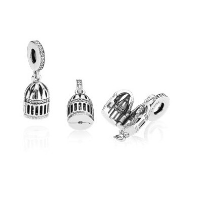5PCS Tibetan Silver Hunger Game Bird Charms Pendant Crafts Necklace Beads