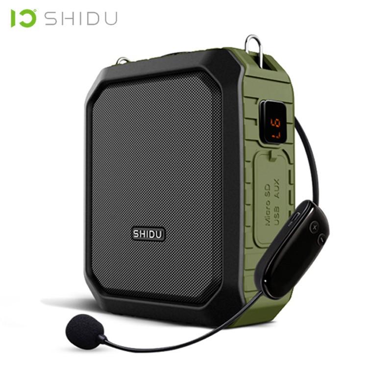 SHIDU M800 18W Portable Waterproof Wireless Bluetooth Speaker Voice  Amplifier