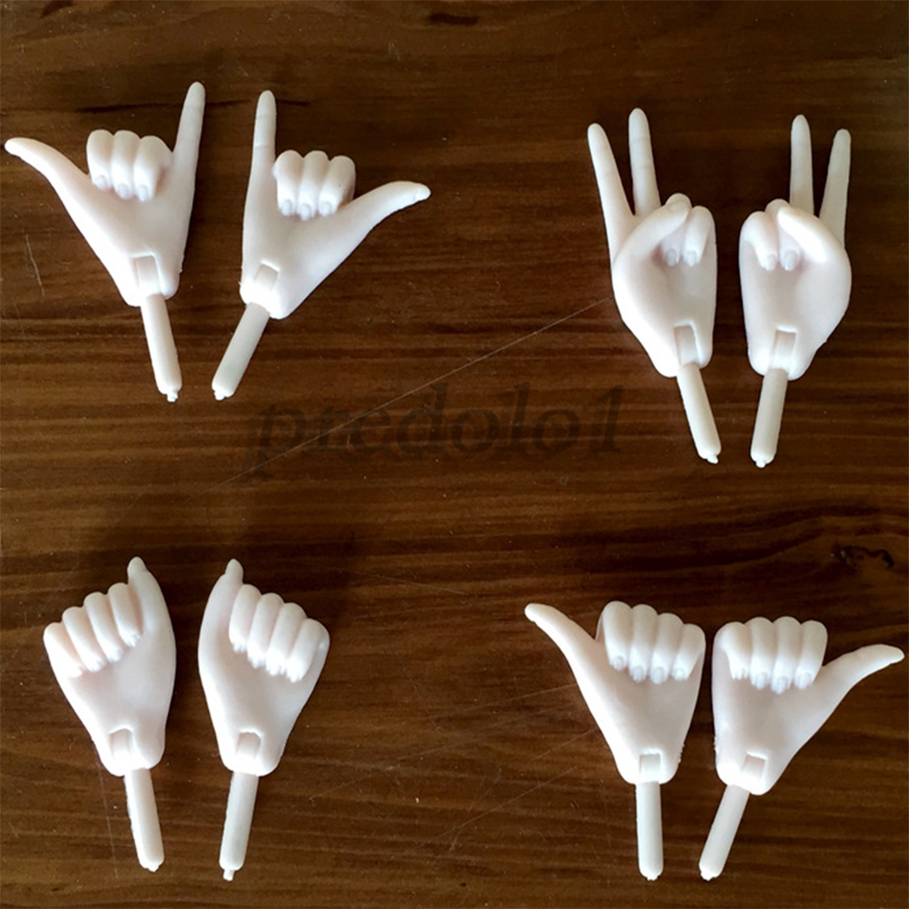 4 Pairs Joints Movable Hands for 1//6 Female Action Figures BJD Dollfie Dolls