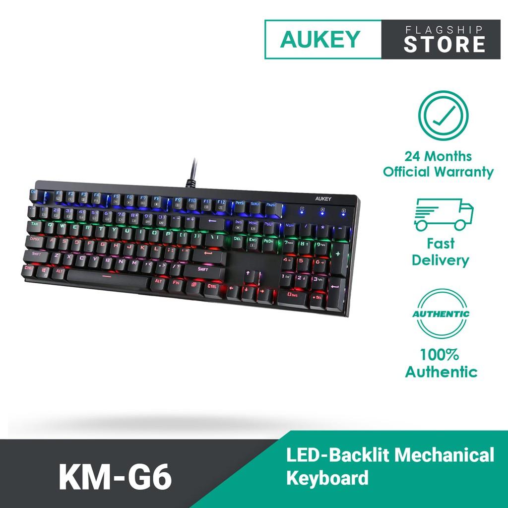 Aukey Key LED-Backlit Mechanical Keyboard KM-G6 104