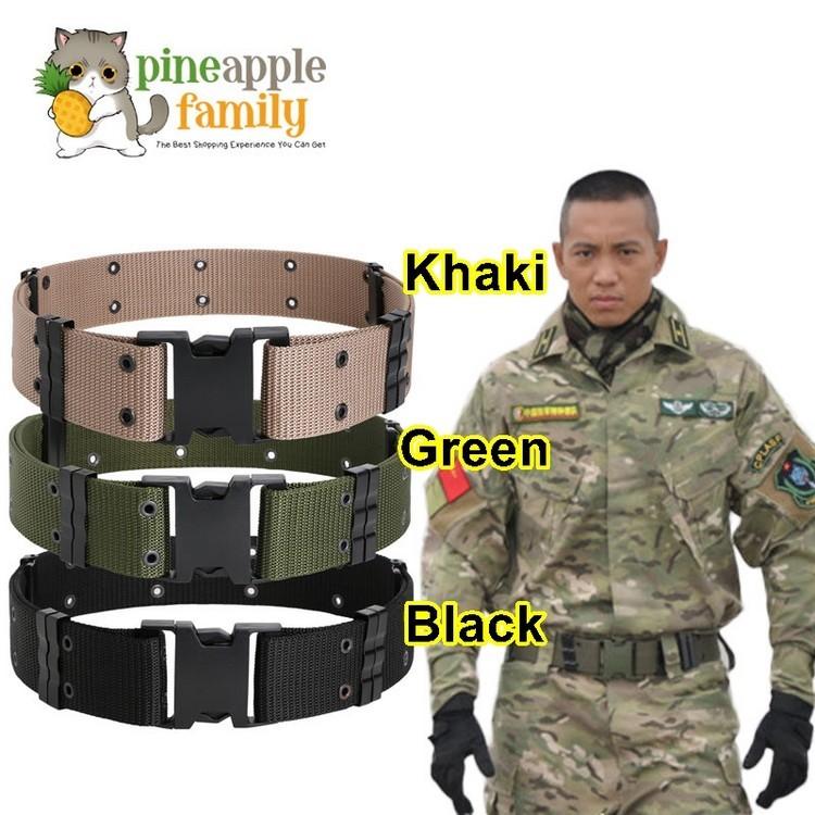 Men Women Outdoor Sports Military Tactical Waistband Canvas Wide Belt Soft