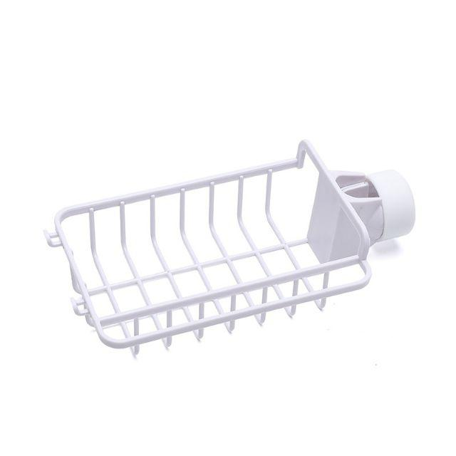 Ready stock 创意日式带挂钩水龙头置物架海绵抹布水槽收纳沥水架