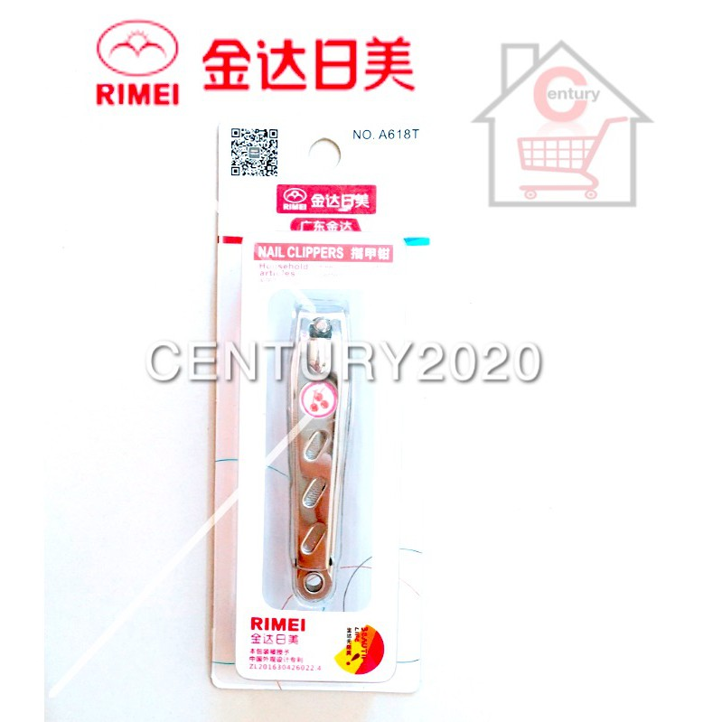 RIMEI Nail Clipper Manicure Care Nail Cutter High Grade Stainless Steel Nail Cutter A618T