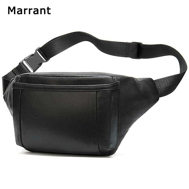 Men Genuine Cowhide Leather Sling Messenger Shoulder Waist Pack Belt Bag Satchel