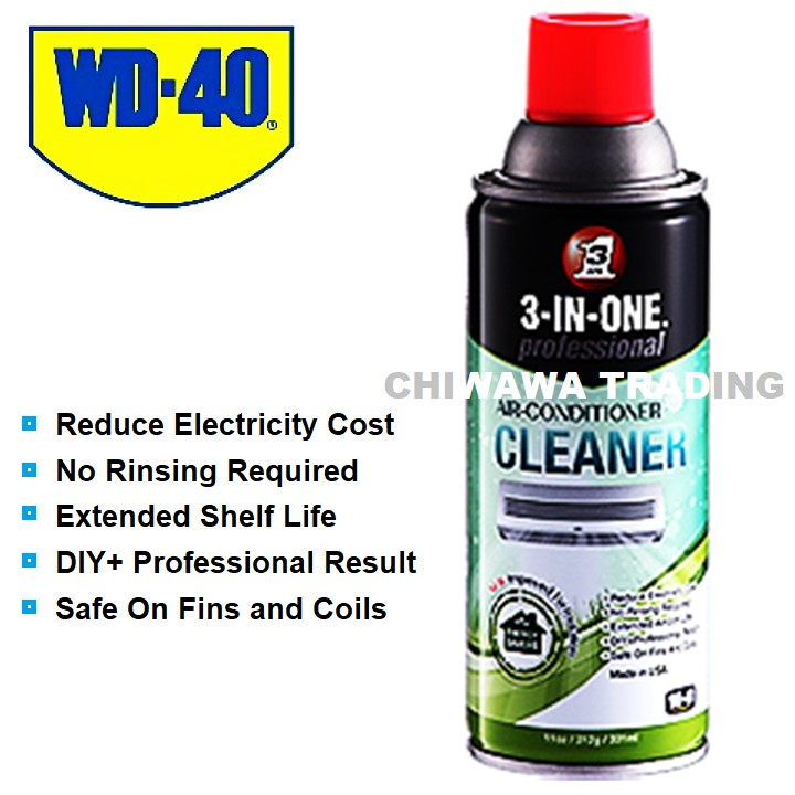 WD 40 3 IN ONE DIY Professional Air Conditioner Air Cond Cleaner 331mL