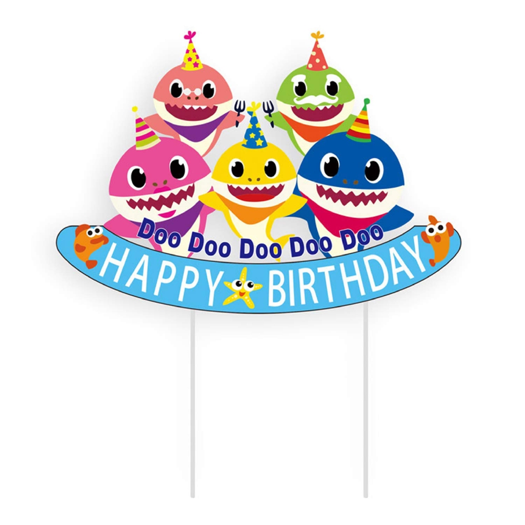 Enjoyable Baby Shark Cupcake Toppers Cake Topper Kids And Adults Birthday Funny Birthday Cards Online Alyptdamsfinfo