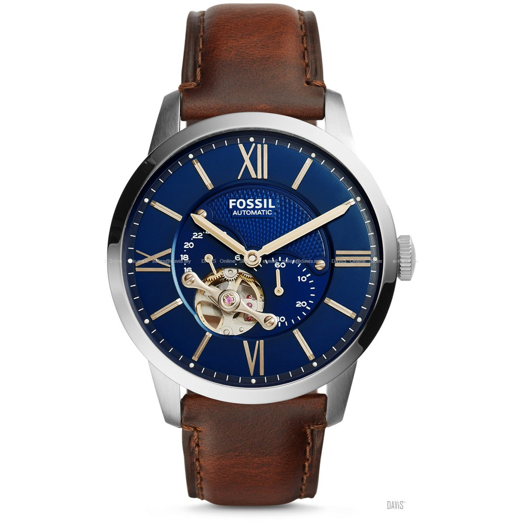 21d166ffccf FOSSIL ME3100 Men s Grant Automatic Leather Strap Brown  Original ...