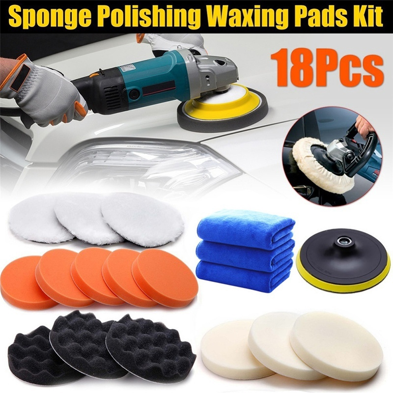 1x 6/'/' 150mm Sponge Polishing Waxing Buffing buffer Pad Kit Set for Car Polisher