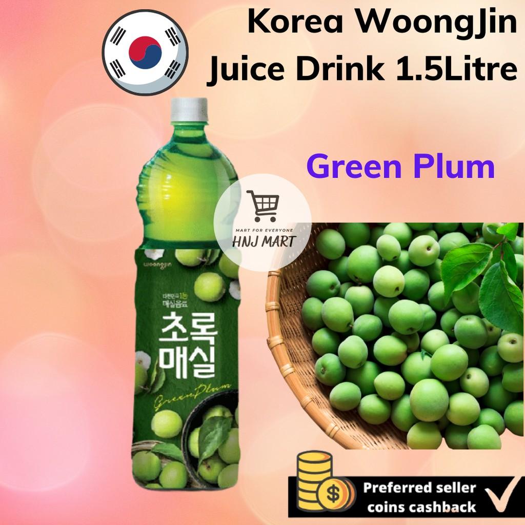 Korea Fruit Juice Drink 1.5L [Green Plum/Grape/Pomegranate/Tangerine/Pear] WoongJin 韩国进口翁津果汁饮料 1.5L [青梅/葡萄/红石榴/柑橘/雪梨]