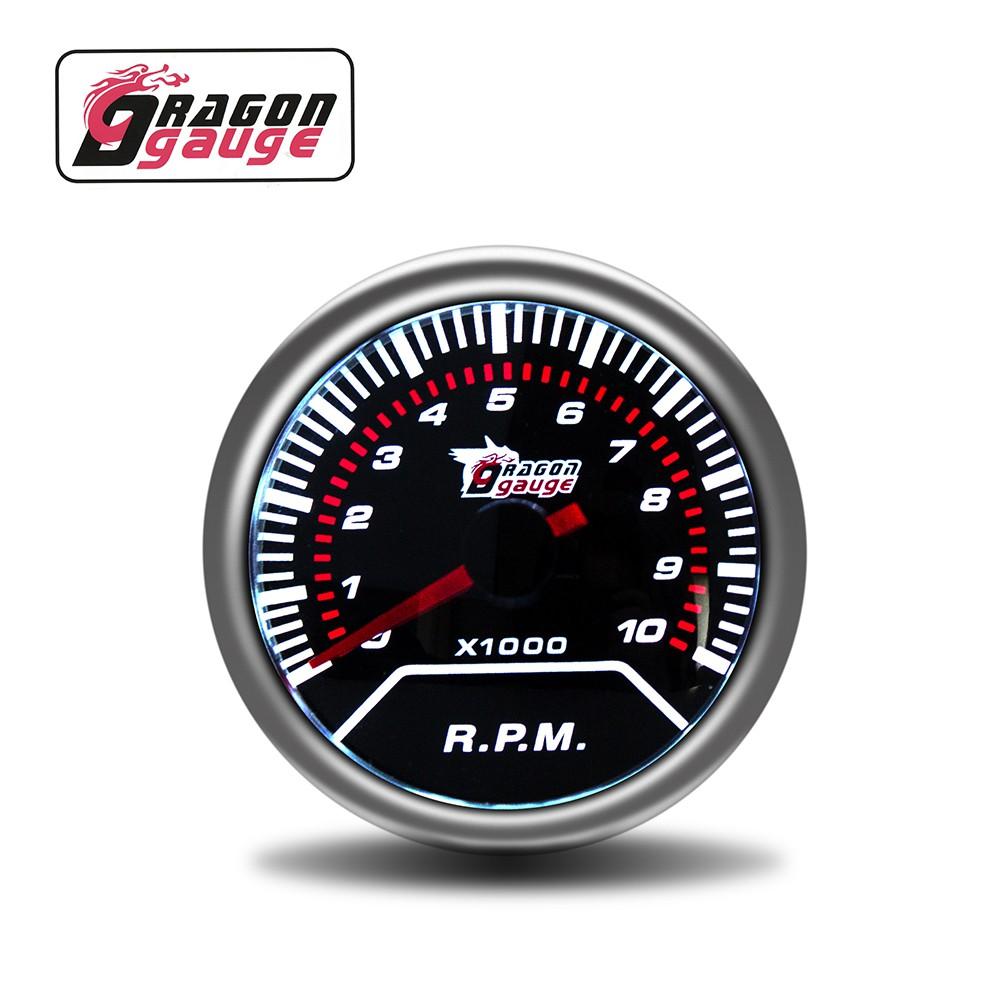 Dragon Gauge 52mm High Quality Smoke Lens Car Meter Tacho Meter 0 8000 Rpm Tachometer Auto Gauge For Do6140t Shopee Malaysia