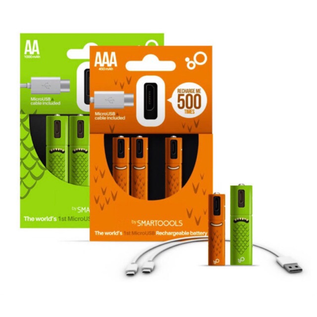 4x 2800mAh AA USB Charger for AA AAA 4PCS 1100mAh AAA Rechargeable Battery