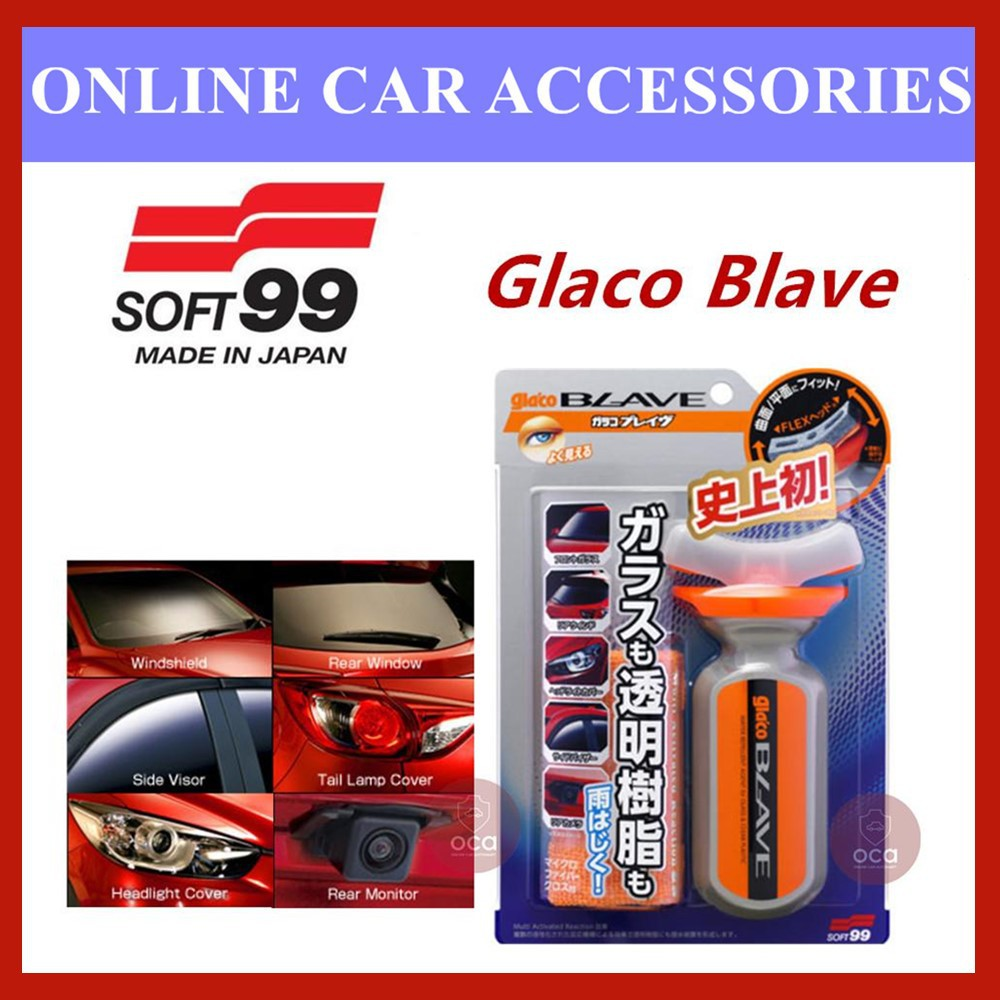 (Free Gift) Soft 99 Glaco Blave Water Repellent Agent for Glass & Clear Plastic - 70ml
