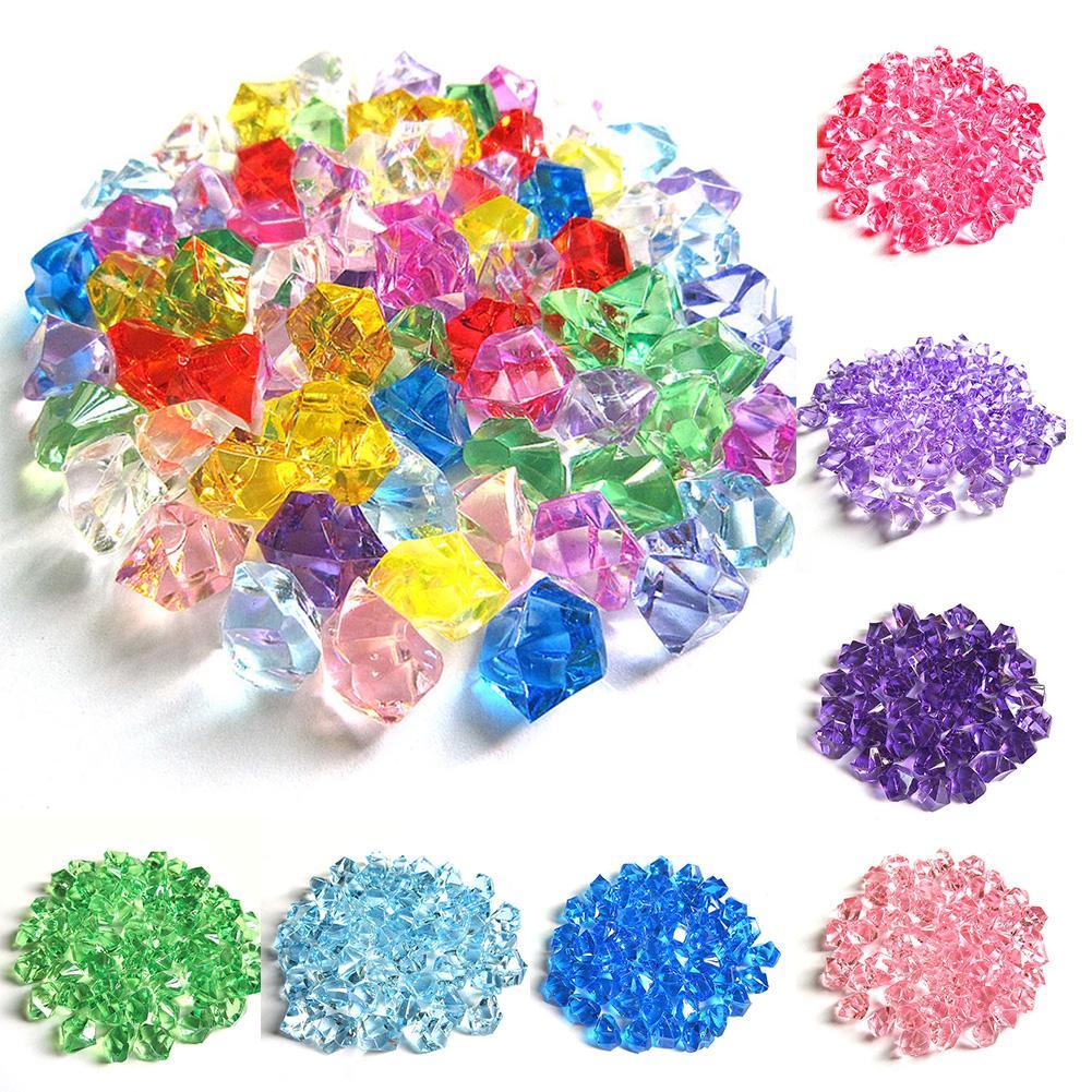 Acrylic Crystal Gem Stone Ice Rocks Table Scatter Confetti Vase Filler 150 pcs-F