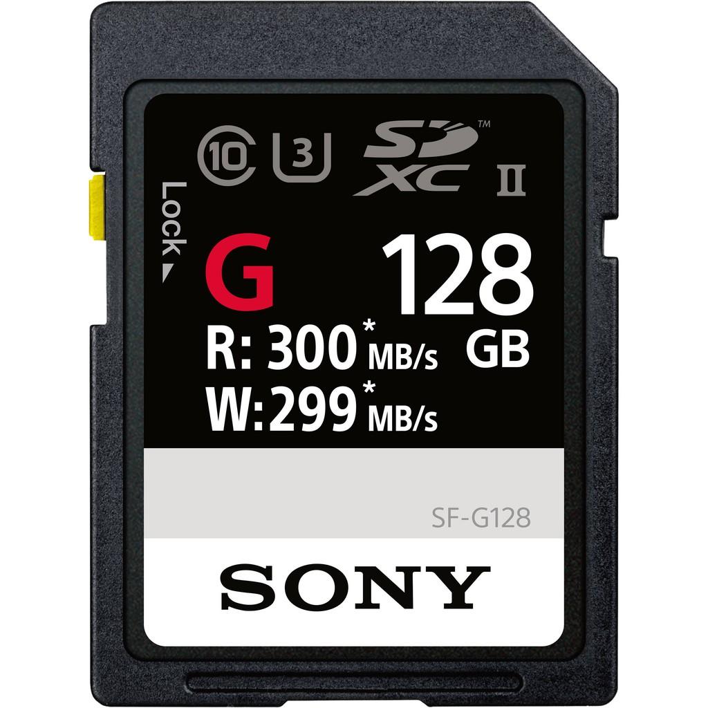 Sony 128GB SDXC Class 10 U3 4K UHS-II Memory Card R 300MB/s W 299MB/s SF G128