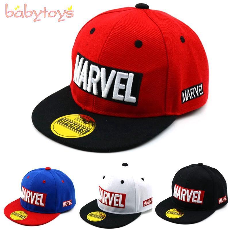 298cea935 Children Boys Snapback Cap Letter Hip-hop Baseball Cap Adjustable Outdoor  Hats
