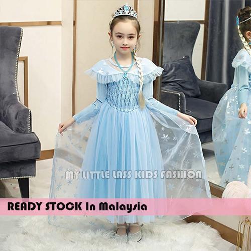 Elegant New Frozen Elsa Princess Dress Costume for Girls