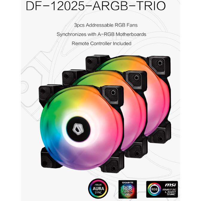 # ID-COOLING DF-12025-ARGB-TRIO Triple 120mm Case FAN Set # [3 FAN / 1 FAN]