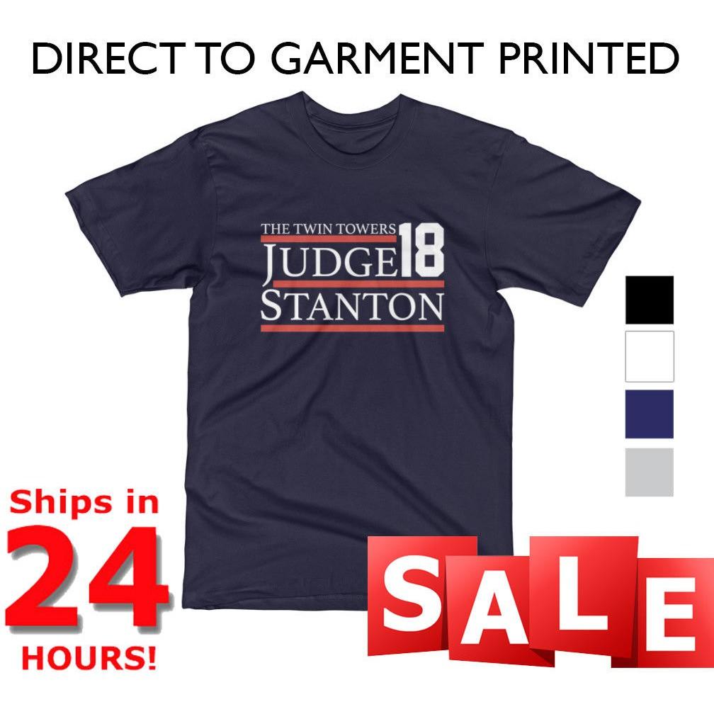 online retailer d6a1c 6e9de Aaron Judge Giancarlo Stanton T Shirt Ny Yankees Election 2018 Twin Towers  New Navy Blue