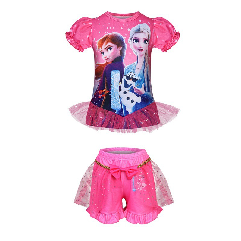 Rainbow Horse Kids Baby Girls Outfits Clothes T-shirt Top Dress+Long Pants Set