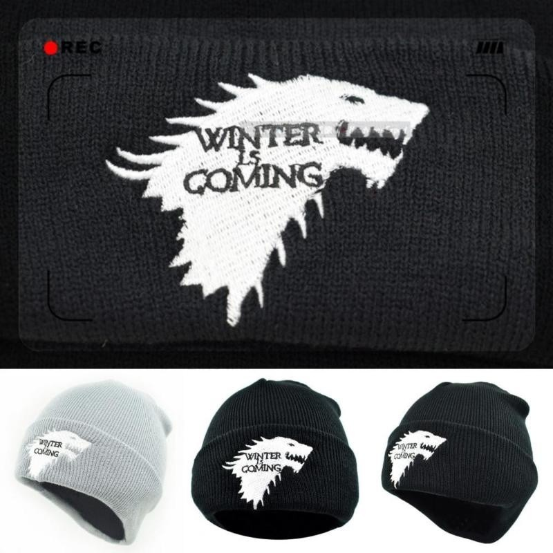 d7afaf845b284 Dire Wolf Game Of Thrones Knitted Beanie Winter is Coming