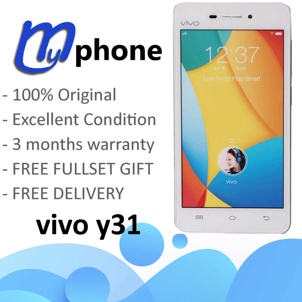USED VIVO Y31 + 3 MONTH WARRANTY + FULLSET GIFT + FREE DELIVERY + 100%  ORIGINAL