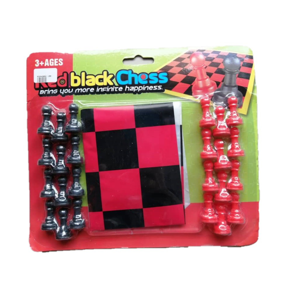 Red Black Chess boardgames for kids