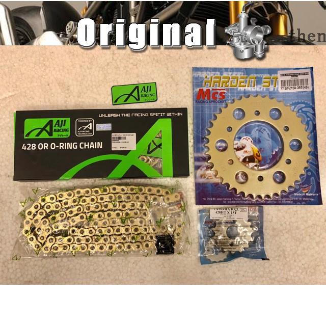 Sprocket Set Gold 428 Oring Combo For Yamaha Y15ZR