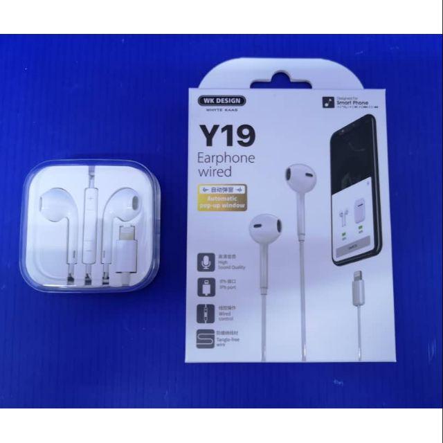 Wk Y19 IPhone Lightning Handsfree | Shopee Malaysia
