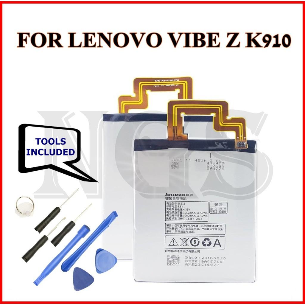 (NGS) 100% ORI Lenovo VIBE Z K910 3050mAh Battery BL216 with 8pcs opening  tools