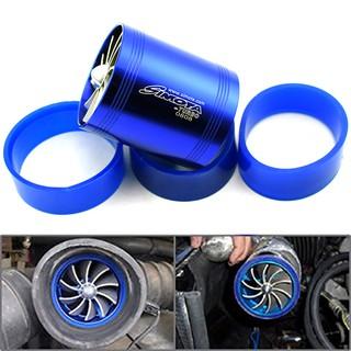 Blue Simota Double Turbine Turbo Charger Air Intake Gas Fuel