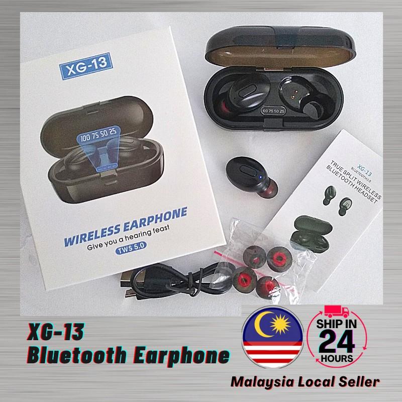 (Ready Stock) XG13 TWS Bluetooth Earbuds Stereo 5.0 Wireless Earphones