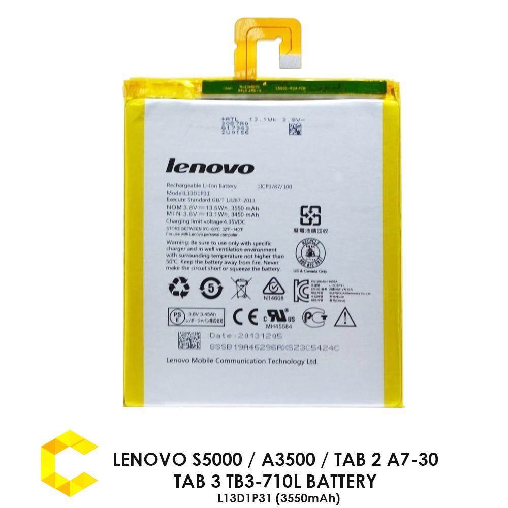 Lenovo S5000 A3500 Tab 2 A7 30 3 Tb3 710l Battery L13d1p31 3550 Mah Shopee Malaysia