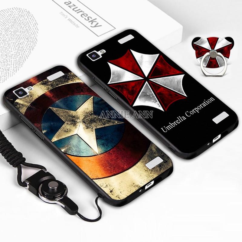 (AnnieAnn)VIVO Y37,Y51,Y53,Y55 Cool Cartoon Relief Soft Case+Ring Holder+La