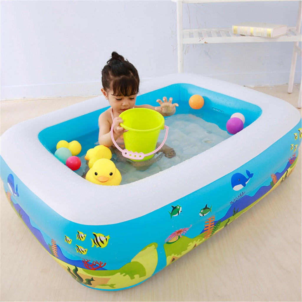 Inflatable Swimming Pool Family Play Center Swim Baby Kids Child Backyard Garden