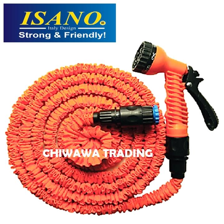 ISANO 15 Meter 30 Meter Auto Expandable Garden Water Hose Nozzles Toilet Spray Bidet Car Wash Sink Sprayer Gun Cannon