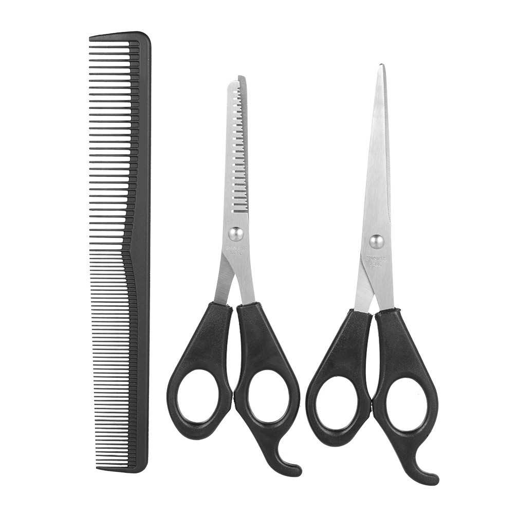 3Pcs/set Hair Cutting Thinning Scissors Set Hair Scissors Hair Comb Set Professional Hairdressing Shears With Hair Comb