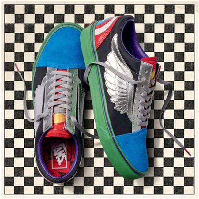Vans x Marvel Old Skool Avengers Skate Shoes