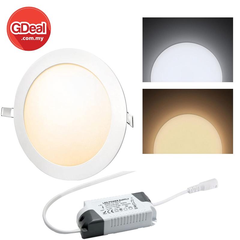GDeal 18W LED Ultra Thin Slim Kitchen Bedroom Panel Light Lampu Panel لمڤو ڤانل
