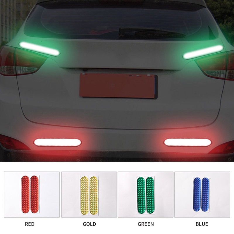 2* Safety Mark Reflective Strips Warning Tape Car Reflective Stickers 10.6x2.3cm