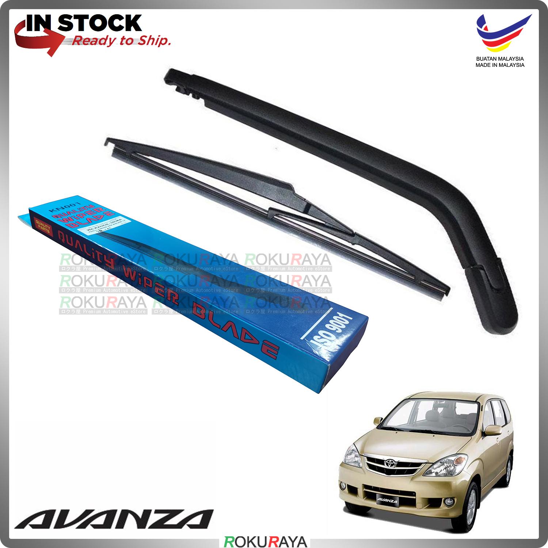 Toyota Avanza Old (1st Gen) Rear Tail Wiper Blade Arm Set Car Accessories Parts
