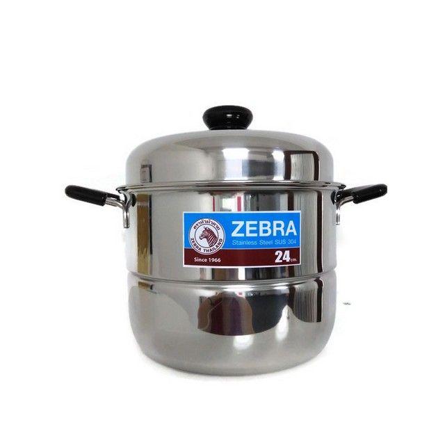ZEBRA 24CM SAUCE POT W/ 2PCS STEAMING PLATE