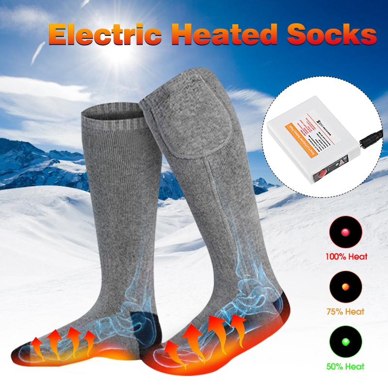 Battery Operated Winter Foot Warmers Beamy Heated Electric Warm Thermal Socks