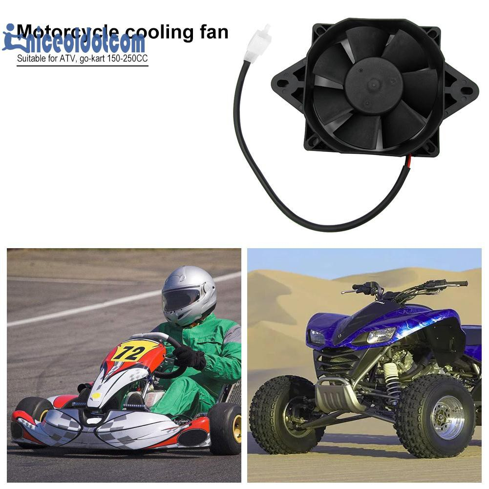 Electric Radiator Cooling Fan ATV Quad Dirt Bike Engine 200cc 250cc